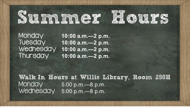 Summer Hours 2017  Unt Blackboard